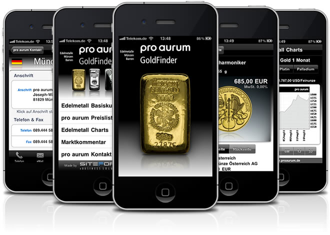 pro aurum GoldFinder App iPhone App
