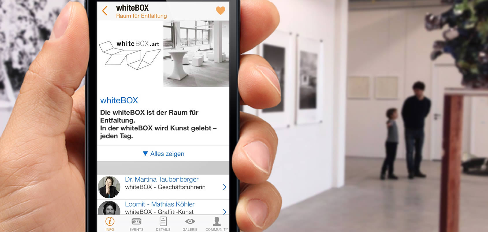 Werksviertel App Kunst & Kultur WhiteBOX